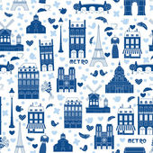 Paris background. Pattern — Stock Vector