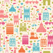 Vector de stock : Paris background. Pattern