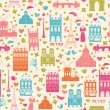 Paris background. Pattern - Stock Vector