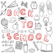 Stock Vector: Back to school