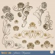 Set of plant elements — Stock Vector