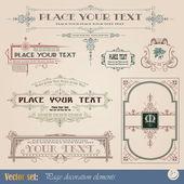 Decorative elements — Stock Vector