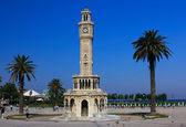 The clock in the historic city of Izmir in Turkey. — Stock Photo