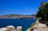 Ocean liner in the port city of Kusadasi in Turkey. — Stock Photo
