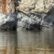 Rock and river — Stock Photo