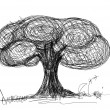 Tree sketch — Stockfoto #12030528