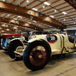 Постер, плакат: White Bugatti Type 35 built in 1925 and many other veteran classic and historic cars