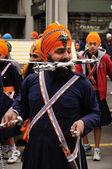Sikh anhänger bereitet vor auf 2012 baisakhi festival in brescia — Stockfoto