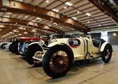 White Bugatti Type 35 built in 1925, and many other veteran, classic and historic cars — Stock Photo