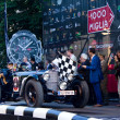 Black 1929 Mercedes 720 SSK at the start of 2012 1000 Miglia — Stock Photo