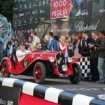 Red 1934 Fiat 508S Balilla at the start of 2012 1000 Miglia — Stock Photo #11537617