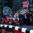 Red 1933 Aston Martin Le Mans at the start of 2012 1000 Miglia — Stock Photo