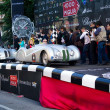 Silver 1939 BMW 328 roadster at the start of 2012 1000 Miglia — Stock Photo