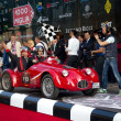 Red 1948 Fiat RG1 at the start of 2012 1000 Miglia — Stock Photo