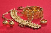 Guld juveler黄金珠宝 — 图库照片