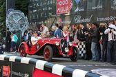 Red 1934 Fiat 508S Balilla at the start of 2012 1000 Miglia — Stock Photo