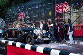 Zwarte 1935 mercedes 500 k aan het begin van 2012 1000 miglia — Stockfoto