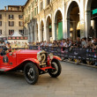 Постер, плакат: Red OM 655 Superba during 1000 Miglia