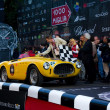 Yellow 1952 Ferrari 225 Export at the start of 2012 1000 Miglia — Stock Photo
