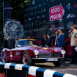 Red 1957 BMW 507 at the start of 2012 1000 Miglia — Stock Photo #11765375