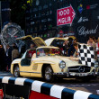 Cream 1955 Mercedes 300 SL W198-I at the start of 2012 1000 Miglia — Stock Photo