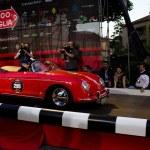 Red 1956 Porsche 1600 Speedster at the start of 2012 1000 Miglia — Stock Photo #11765578