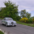 Gray 1956 Lancia Aurelia B20 near Gubbio — Stock Photo