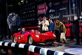 Red 1957 Maserati 200 SI at the start of 2012 1000 Miglia — Stock Photo