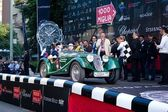 Green 1936 Riley sprite at the start of 2012 1000 Miglia — Stock Photo