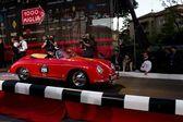 Red 1956 Porsche 1600 Speedster at the start of 2012 1000 Miglia — Stock Photo