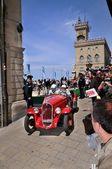 Red 1934 Fiat 508 Balilla in San Marino — Stock Photo