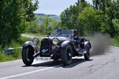 Brown Alfa Romeo 6c 1750 GS during 1000 Miglia — Stock Photo