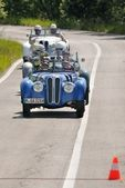 Four BMWs 328 during 1000 Miglia — Stock Photo