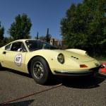 Постер, плакат: Yellow Ferrari Dino 246 GT