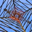 Electricity pylon, bottom view — Stock Photo