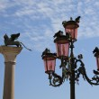 Lamppost in PiazzSMarco in Venice — Stock Photo #10769323