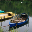 Boats on the river Adda — Stock Photo