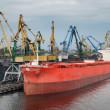 Riga port. — Stock Photo