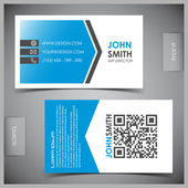 Vector set of creative business cards — Vector de stock