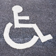 Parking spot for the disabled — Stock Photo