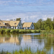 swedish lakehouse — Stock Photo
