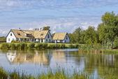 Swedish lakehouse — Stock Photo