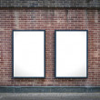 Two blank boards — Stock Photo #11836419