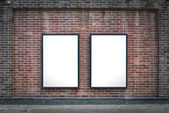 Two blank boards — Stock Photo