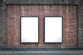 两个空白板 — 图库照片