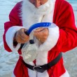 Santa claus on vacation — Stock Photo