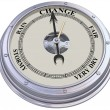 Barometer indicating change — Foto de Stock