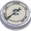 Stock Photo: Barometer indicating stormy weather
