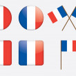 Badges with flag of France - Stock Vector