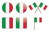 Badges with Italian flag — Stock Vector